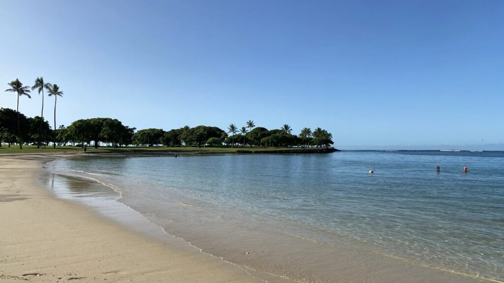 View of Magic Island from Ala Moana Beach